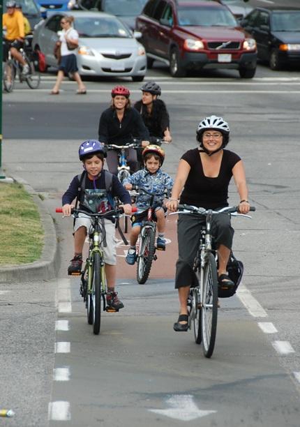 Burrard cyclists