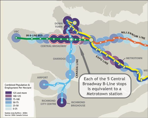 Map Of Canada Line Vancouver.Extraordinary Facts Five Metrotowns On Broadway Price Tags