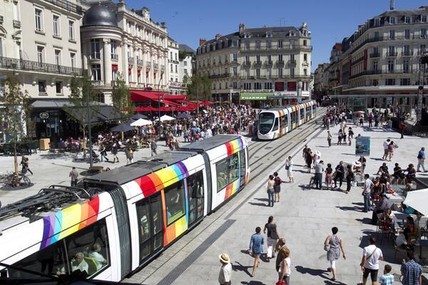 light rail in the city