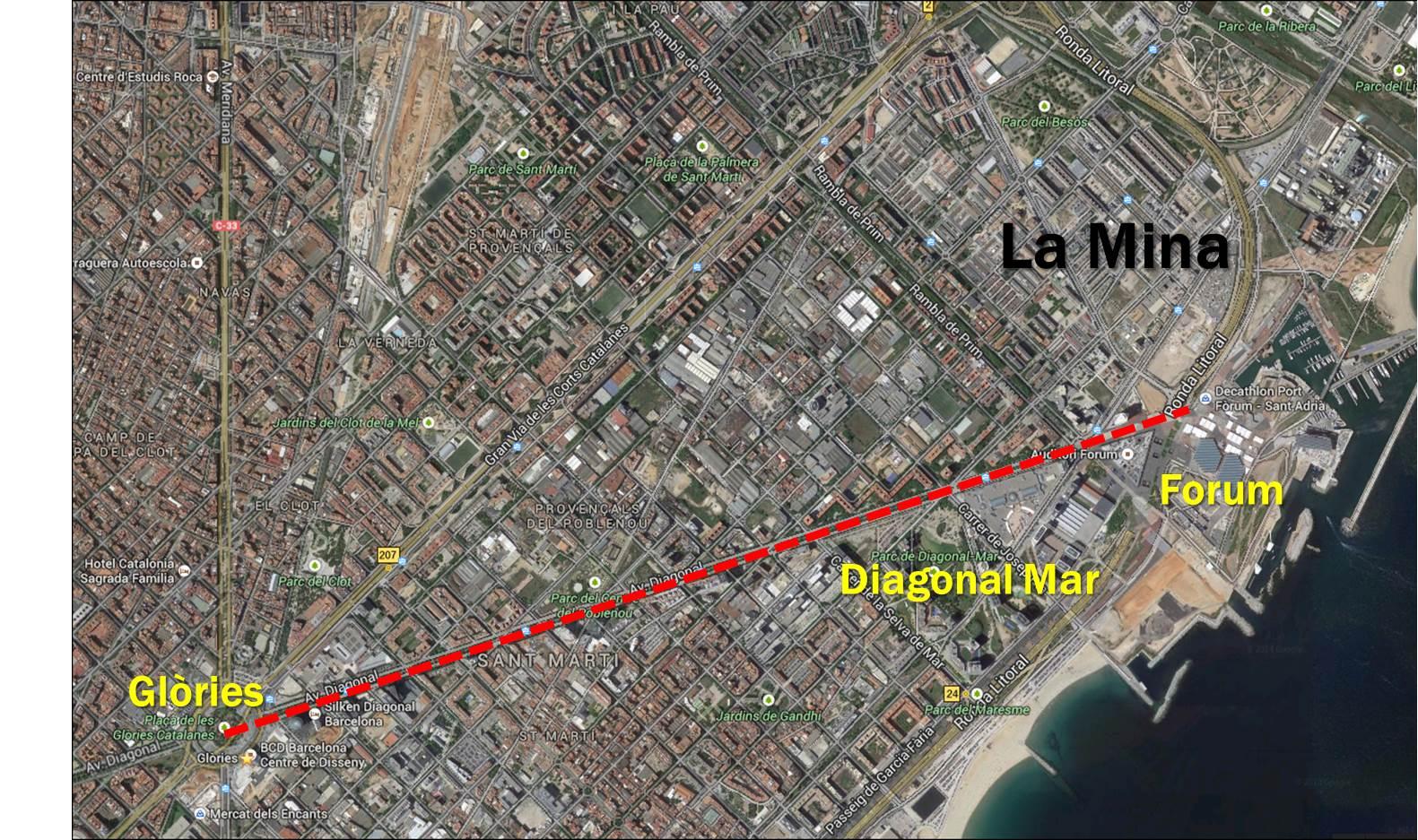 Barcelona 24 The Diagonal 4 La Mina Before Price Tags