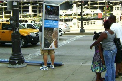 look_walker_walking_advertising_sign_board