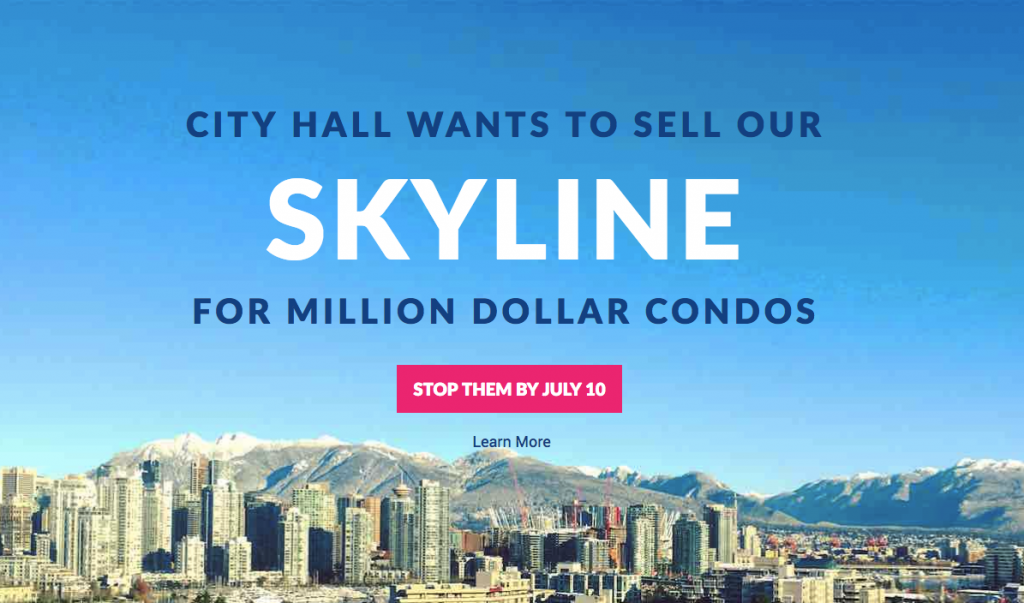 """Featured image for """"Northeast False Creek Piercing Tower Proposal Goes to Council Public Hearing ~ """"Save Our Skyline YVR"""" Responds"""""""