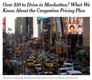 """Featured image for """"Congestion Charging comes to New York … and maybe to us"""""""