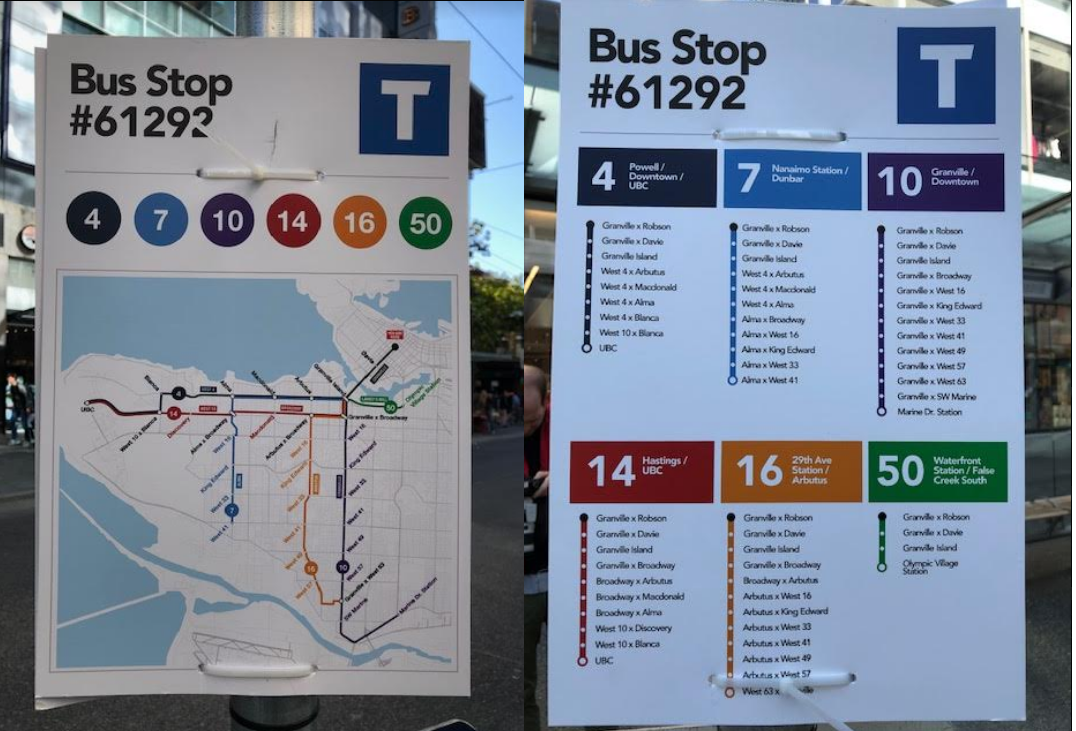 New Bus Stop Signs