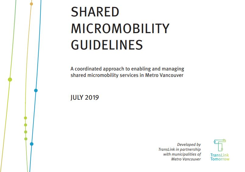 """Featured image for """"Scooting Towards Progress? A look at the new Shared Micromobility Guidelines for Metro Vancouver"""""""