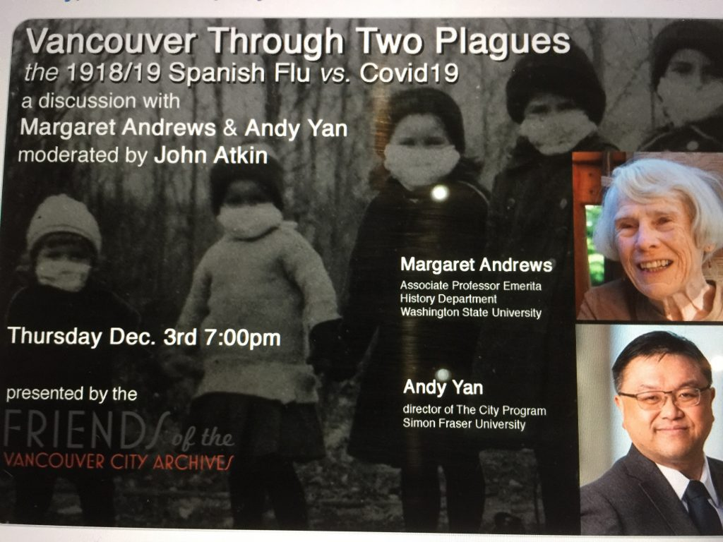 """Featured image for """"Vancouver Through Two Plagues~Fundraising Webinar to Benefit Vancouver Archives"""""""