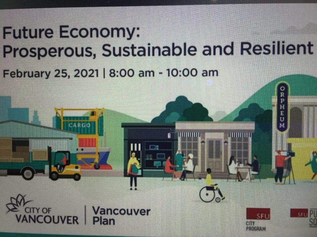 """Featured image for """"Free Webinar~Vancouver's Future Economy: Prosperous, Sustainable & Resilient"""""""