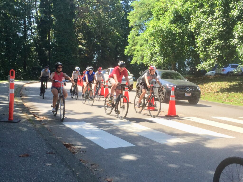 """Featured image for """"Stanley Park: That Temporary Bike Lane Finally Arriving on Park Drive"""""""