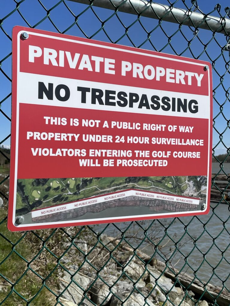 """Featured image for """"Not in My Back Yard! Marine Drive Golf Course Says No to  Public Access on the Fraser River Trail Greenway"""""""