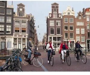 """Featured image for """"Two-wheelers versus Two-footers in Amsterdam"""""""