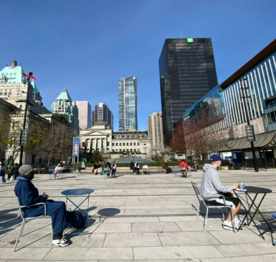"""Featured image for """"Crooning in Robson Square on a Sunny Afternoon"""""""