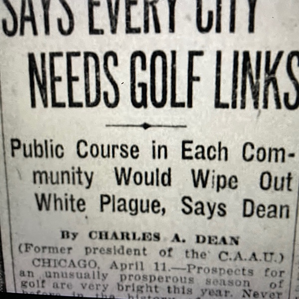 """Featured image for """"Public Golf Courses, Vancouver & The White Plague"""""""