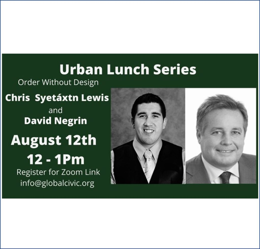 """Featured image for """"Urban Lunch: Chris Lewis and David Negrin – Aug 12"""""""