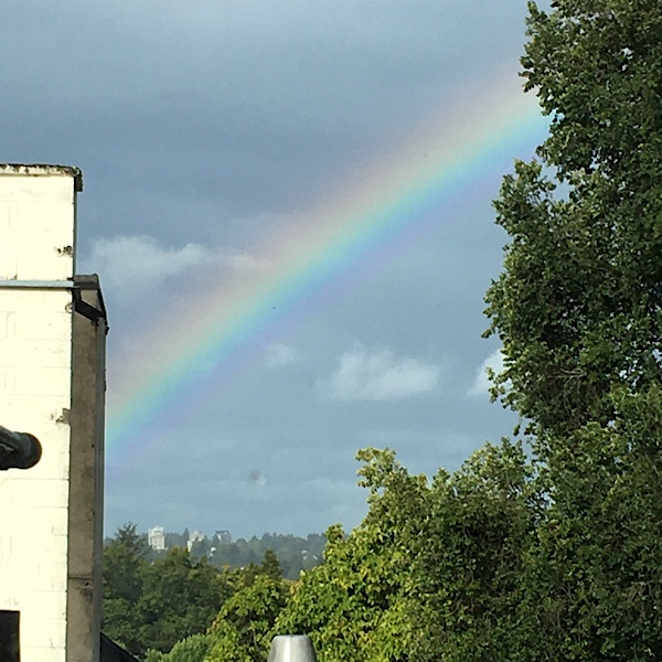 """Featured image for """"Rainbow's End on Vancouver's  Arbutus Greenway"""""""